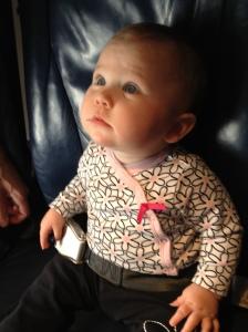 Olivia on Plane